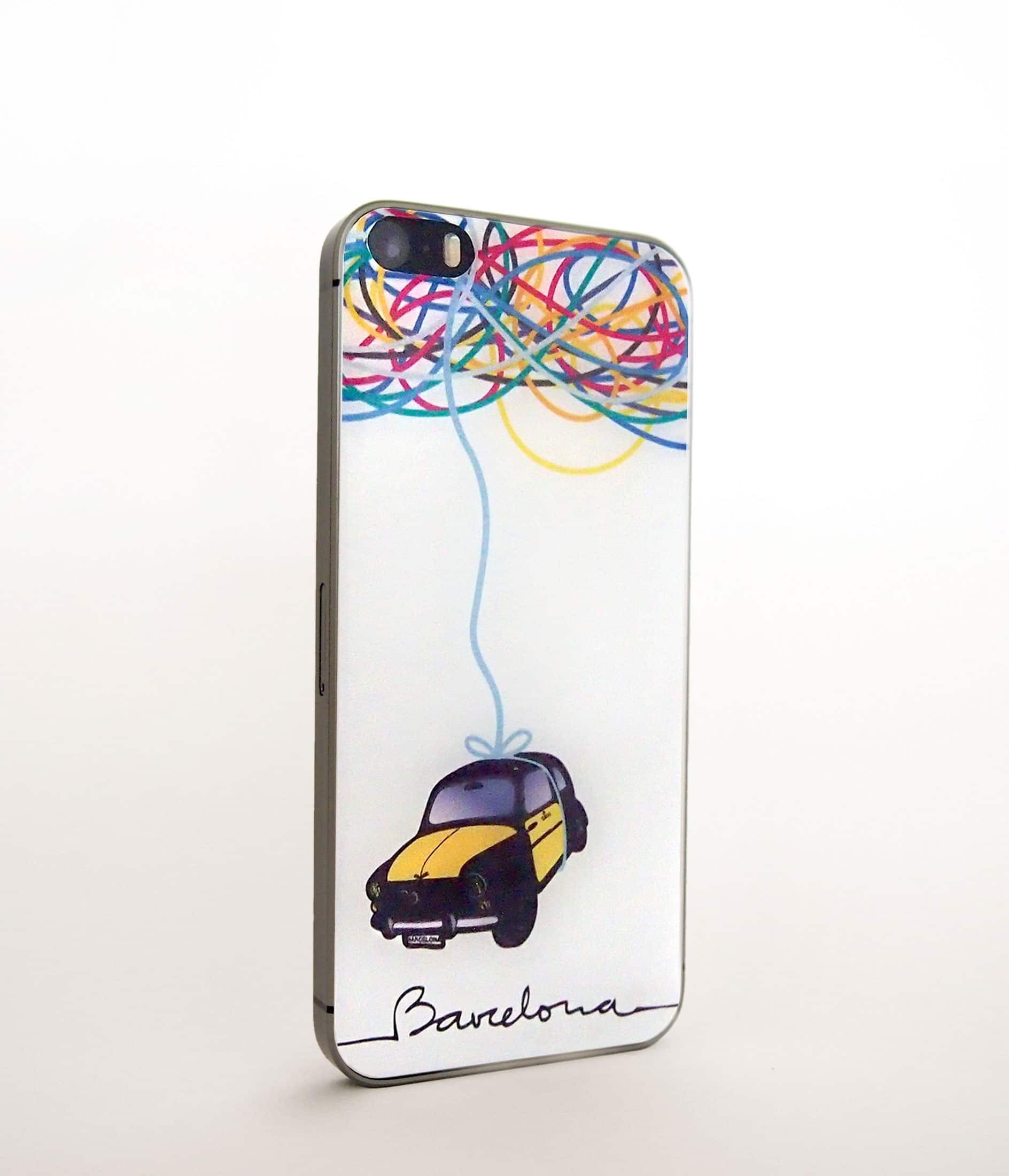 Taxi White iPhone Sticker